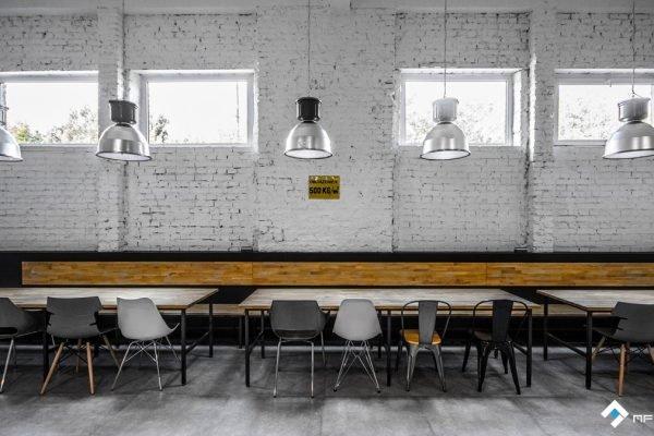MFA Studio projekt stołówki AMTRA