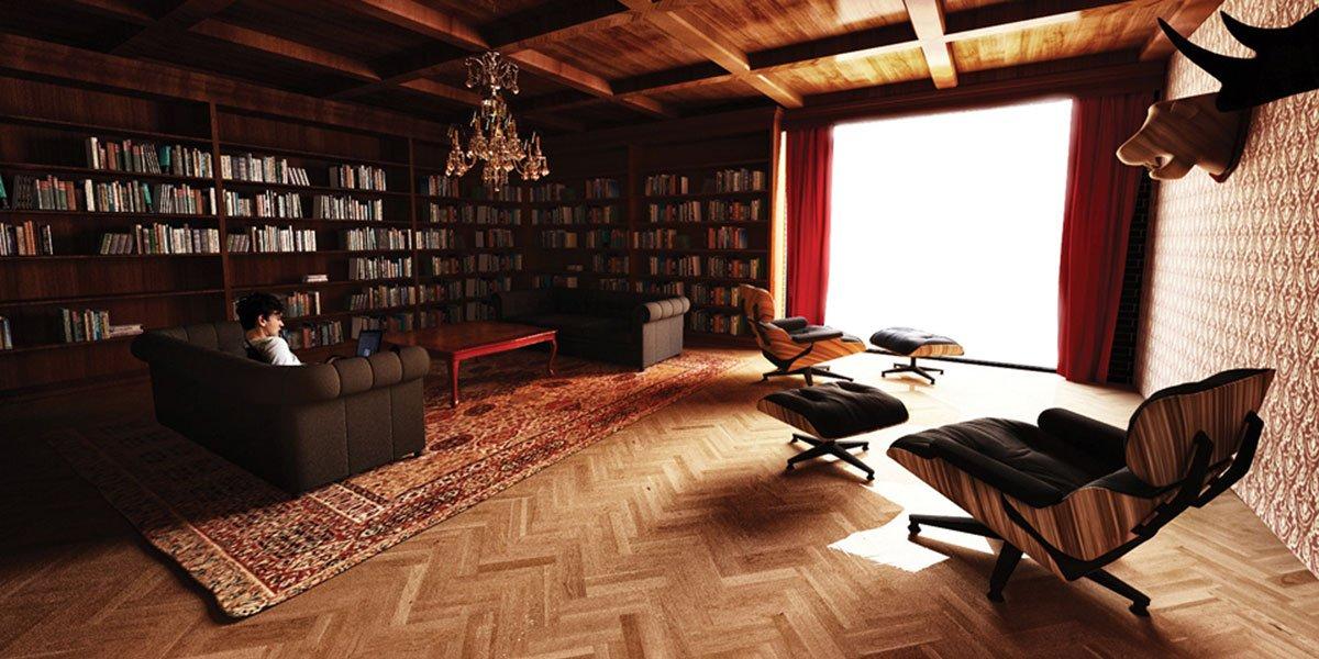 projekt wnętrz biurowych - strefa relaksu