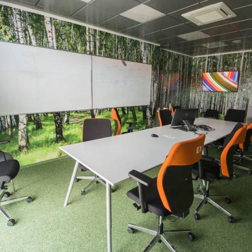 sala konferencyjna wnętrza biurowe projekt architekt