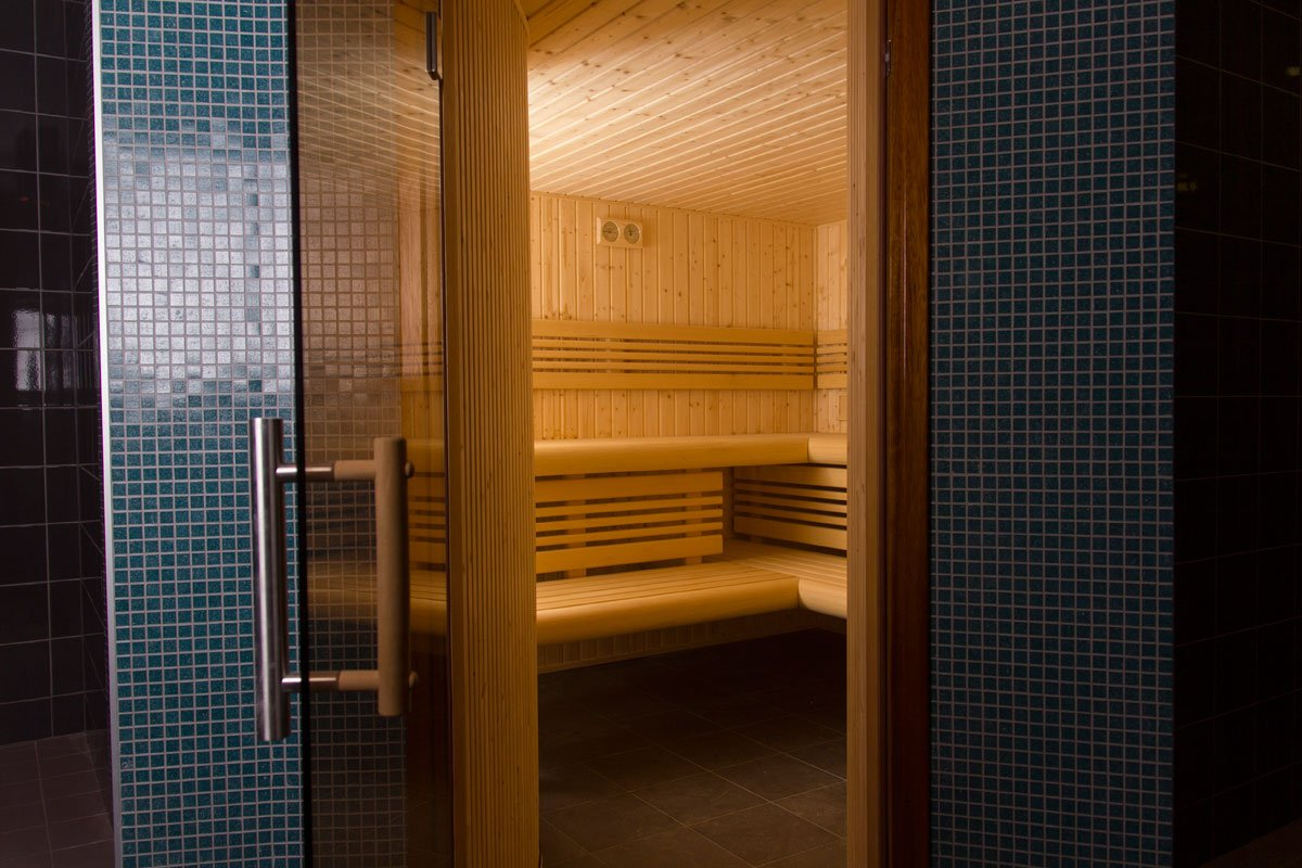 sauna strefa relaksu wnętrza biurowe architekt