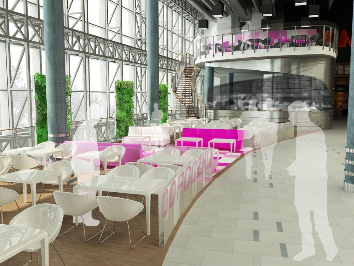 Centrum Handlowe Gliwice Forum projekt wnętrz