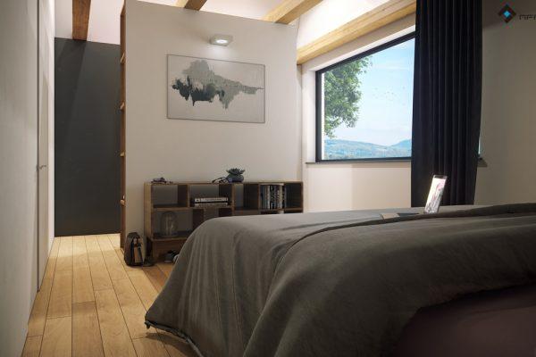sypialnia z garderobą - projekt